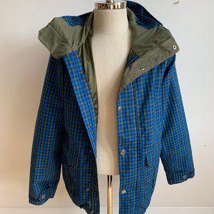 Burton Snowbaording jacket Blue plaid parka sz M